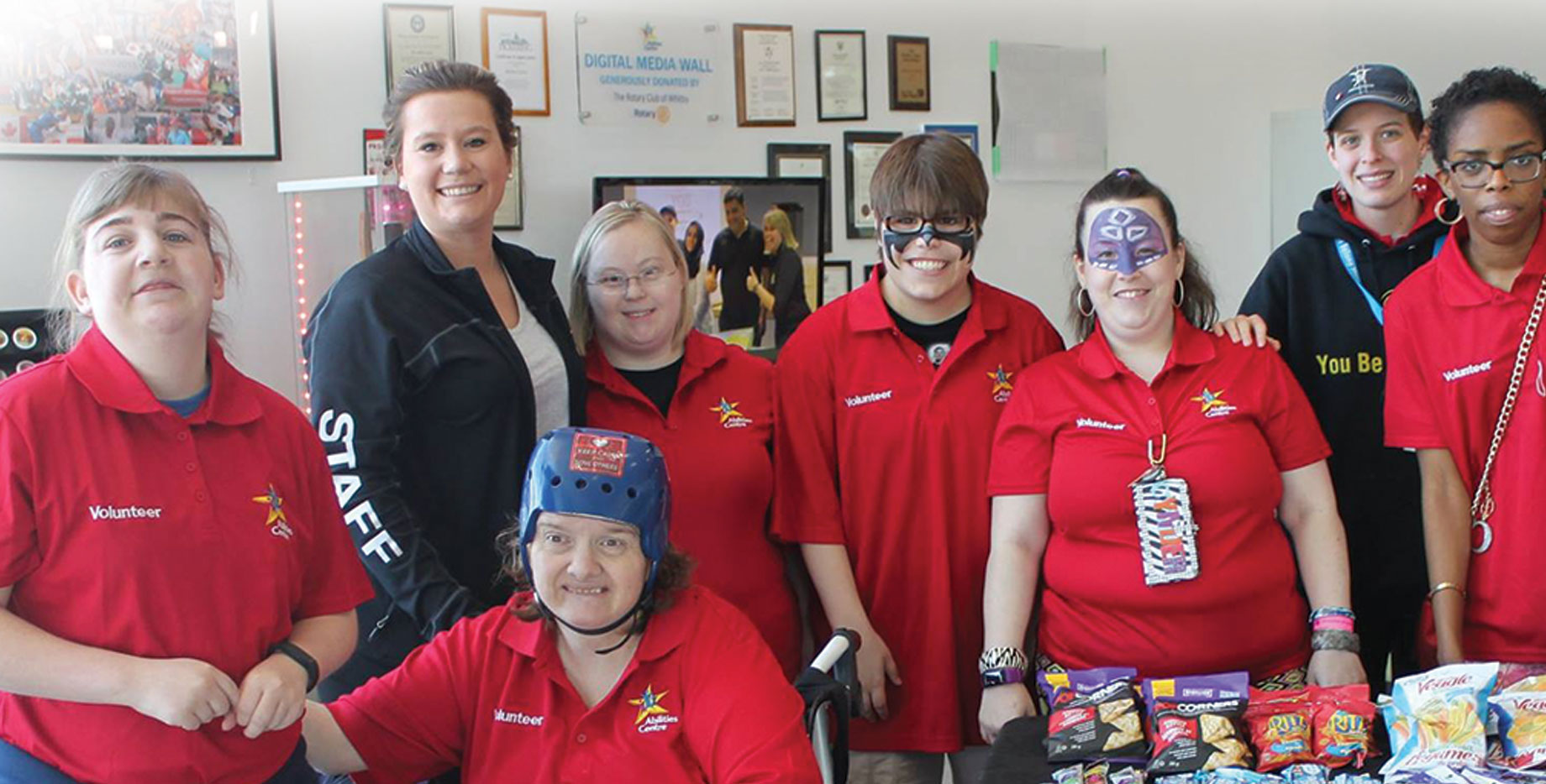 Abilities Centre volunteers and Coordinator supporting the development and fundraising initiatives and strategies of Abilities Centre