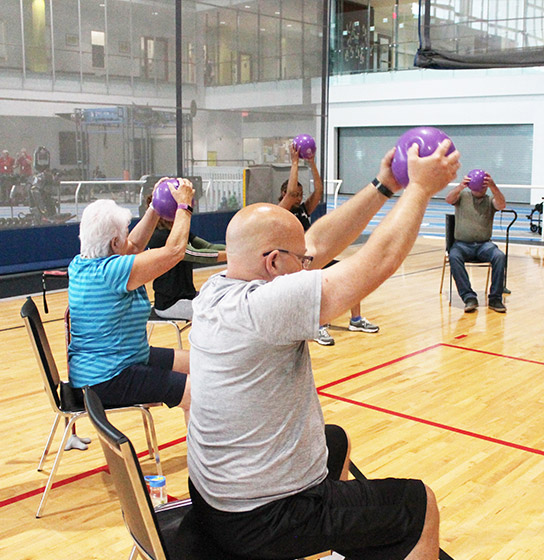 participants engaged in a TIME program that focuses on exercise for people with a range of neuromuscular conditions