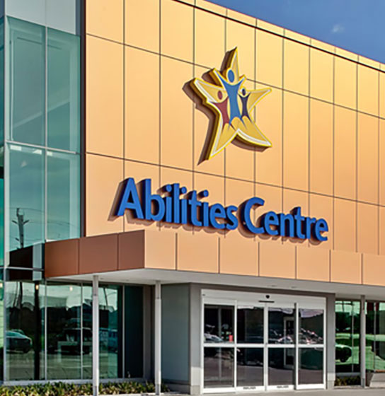 Image of Abilities Centre facility in Whitby Ontario