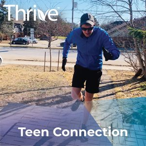 A Thrive participant running outdoors